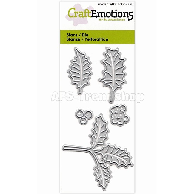 CraftEmotions Dies Holly Leaves