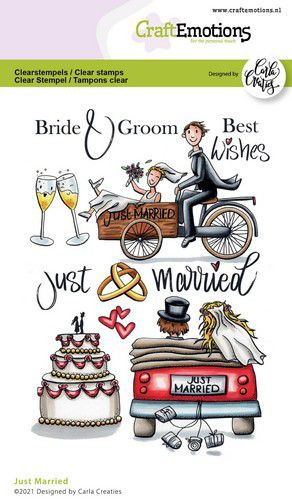 CraftEmotions Clearstamp Just Married