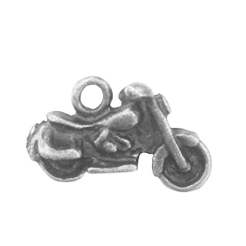 Metall Charm set Silver motorcykel 5 st