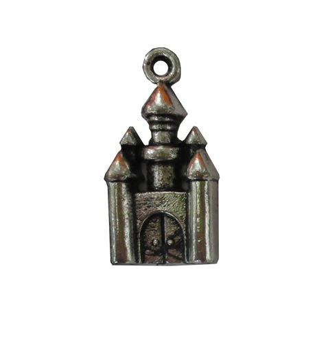 Metall Charm set Silver Castle 5 st