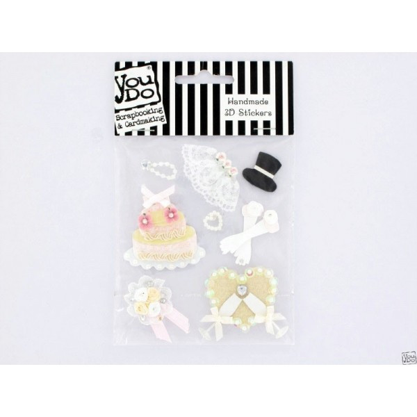 3-D Stickers Wedding Accesories