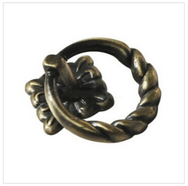 Antique Bronze Knobs Cirkel Ring 1 st