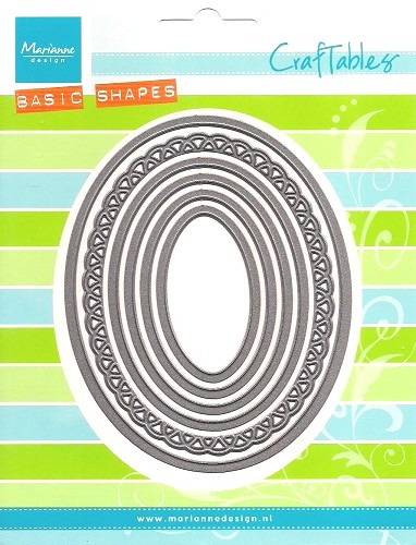 Marianne Design Craftable Basic Oval Dies 6 del