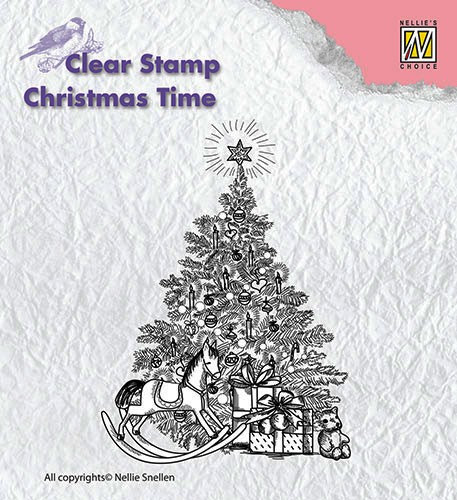 Nellie Snellen Clearstamp Christmastree with gifts