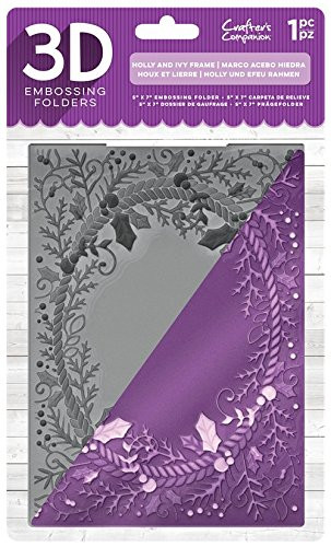 "Crafter's Companion 3D Embossingfolder ""Holly and Ivy Frame"