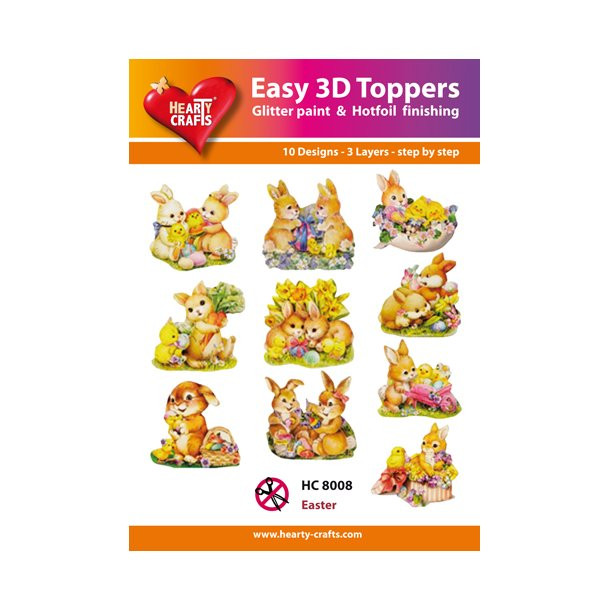 Easy 3D Toppers Easter