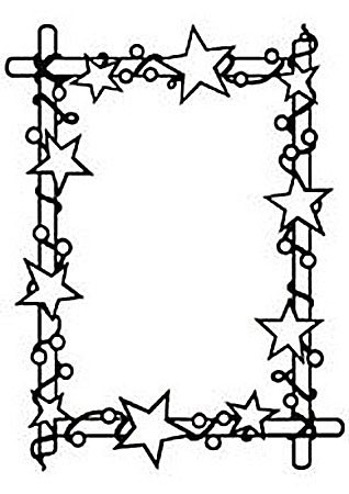 Nellie Snellen Embossingfolder Rectangle frame with stars