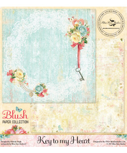Blue Fern Studios Blush KEY TO MY HEART