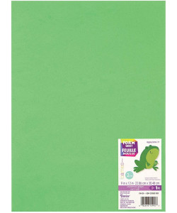 Darice Foam 2 mm Christmas Green 9x12 inch
