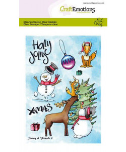 CraftEmotions Clearstamps A6 Snowy and friends 2