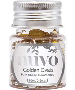 Nuvo Golden Ovals Pure Sheen Gemstones