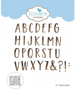Elizabeth Craft Designs Dies Blackboard Alphabet