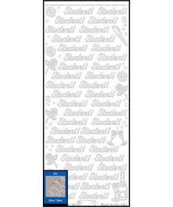 Student stickers silver