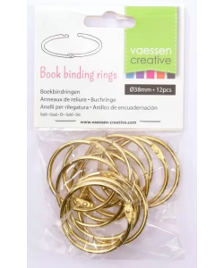 Book Binding Rings Gold 38 mm