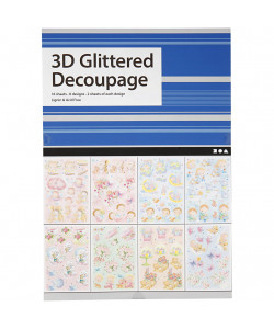 3D Glittered Decoupage 16 ark