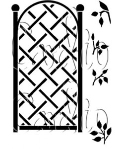 Card-io Clearstamp Tall Trellis