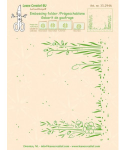 Leane Creatief Embossingfolder Background Garden