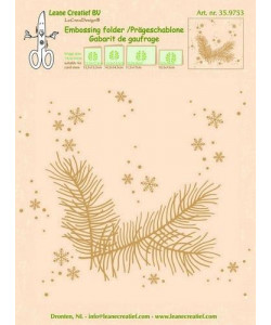 LeCrea Embossing folder Christmas branch