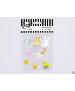 3-D Stickers Newborn