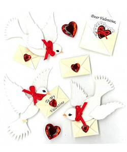 Jolees Boutique Valentine Doves Dimensional Embellishments