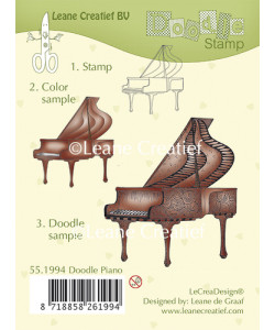 Leane Creatief BV Doodle clear stamp Piano