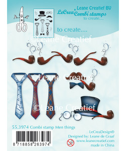 Leane Creatief BV Combi Clear stamp Men things