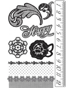 Prima Marketing Rosarian Floral Cling Mounted Stamp