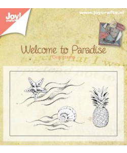 Joy Crafts Clearstamp Welcome to paradise""
