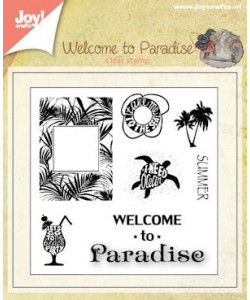 Joy Crafts Clearstamp Welcome to Paradise 1