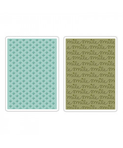 Sizzix Embossing Folders SMILE and PLUS Set Folder