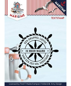 Maritime Textstamp Clearstamp
