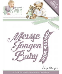 Amy Design Baby Dies Text BABY och Banner
