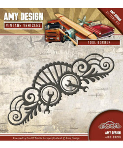 AMY DESIGN DIE Antique Tool Border