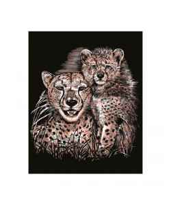 Artfoil Copper Cheetah and cub