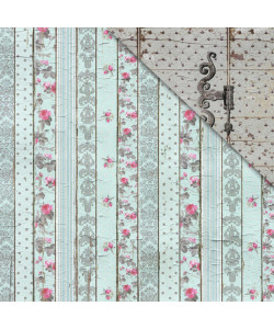 Fabscrap Shabby Rose Vintage Panel