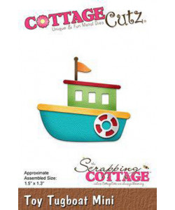 Scrapping Cottage Dies Toy Tugboat Mini