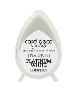 Card Deco Pearlescent Platinum White