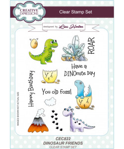 Dinosaur Friends Clearstamp Set