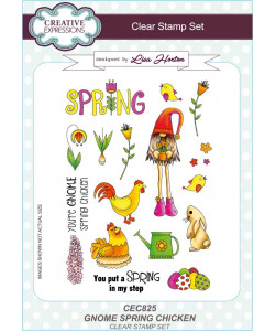 Gnome Spring Chicken Clearstamp Set