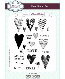 Creative Expressions Clearstamps Arty Hearts