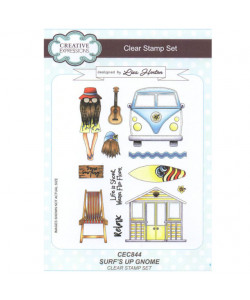 Surfs Up Gnome Clearstamp Set