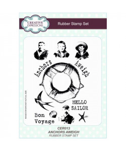 Anchors Aweigh Rubber Stamp Set