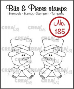 Crealies Bits and Pieces stamps 2 x Snowman