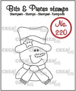 Crealies Bits and Pieces stamps Snowman