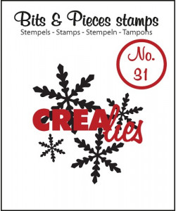 Clearstamp Crealies Bits and Pieces No 31 Snowflake