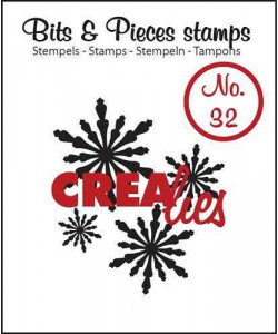 Clearstamp Crealies Bits and Pieces No 32 Snowflake