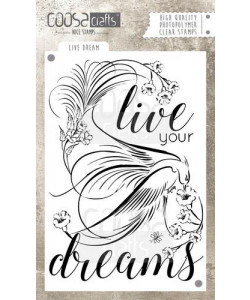 COOSA Crafts clearstamps A6 Live Dream