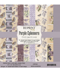 Purple Ephemera Collection Paperpack