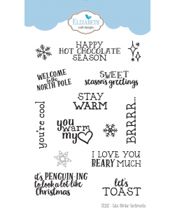 Elizabeth Craft Designs Clearstamps Cute Winter Sentiments