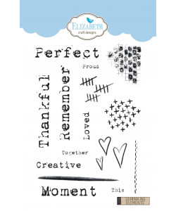 Elizabeth Craft Designs Clearstamps Journaling Elements